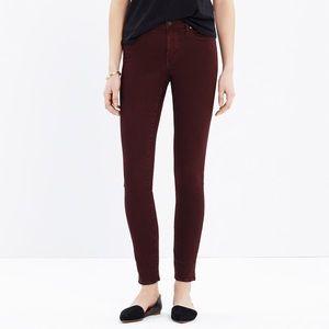 Madewell High Riser Skinny Brown Jeans